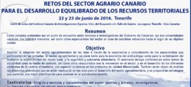 ICIA: SEMINARIO «RETOS DEL SECTOR AGRARIO CANARIO»