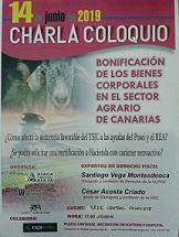 Charla coloquio «Bonificación de los bienes corporales en el sector agrario de Canarias»