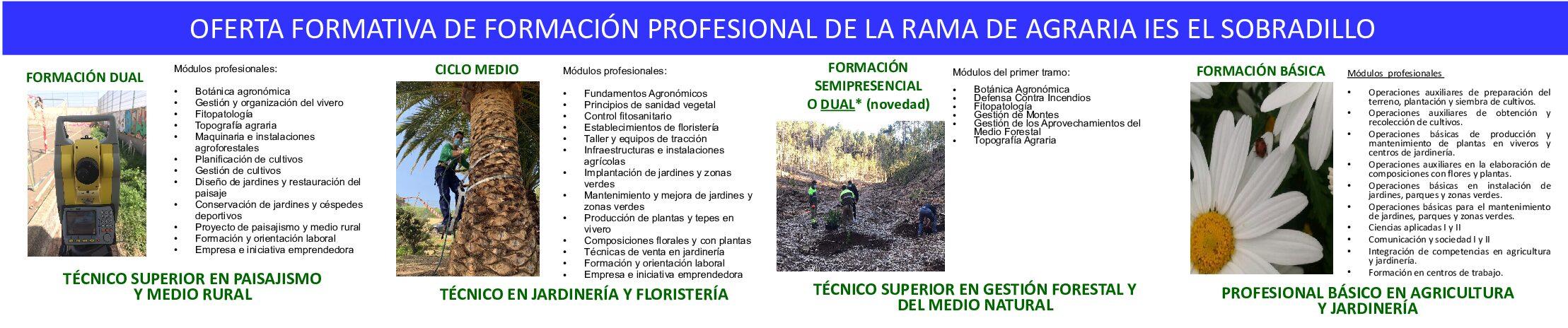 ASOCAN APOYA LA OFERTA FORMATIVA DE FORMACIÓN PROFESIONAL DE LA RAMA DE AGRARIA IES EL SOBRADILLO